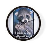 Raccoon Coat Wall Clock