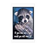 Raccoon Coat Sticker (Rectangle)