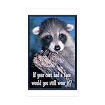 Raccoon Coat Sticker (Rectangle 10 pk)