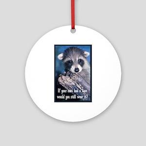 Raccoon Coat Ornament (Round)