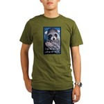 Raccoon Coat Organic Men's T-Shirt (dark)