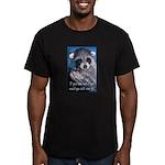 Raccoon Coat Men's Fitted T-Shirt (dark)