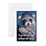 Raccoon Coat Greeting Cards (Pk of 10)