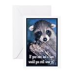 Raccoon Coat Greeting Card