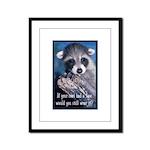Raccoon Coat Framed Panel Print