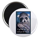 "Raccoon Coat 2.25"" Magnet (10 pack)"
