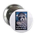 "Raccoon Coat 2.25"" Button (10 pack)"