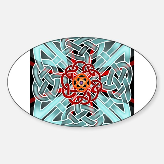 Knots & Templars Sticker (Oval)