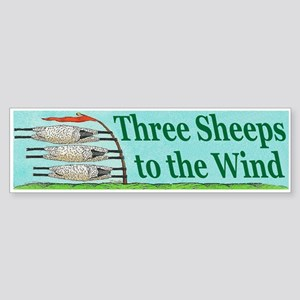 Three Sheeps to the Wind Sticker (Bumper)