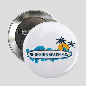 """Surfside Beach - Surf Design. 2.25"""" Button"""