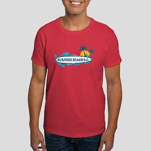 Surfside Beach - Surf Design. Dark T-Shirt