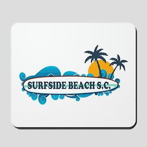 Surfside Beach - Surf Design. Mousepad