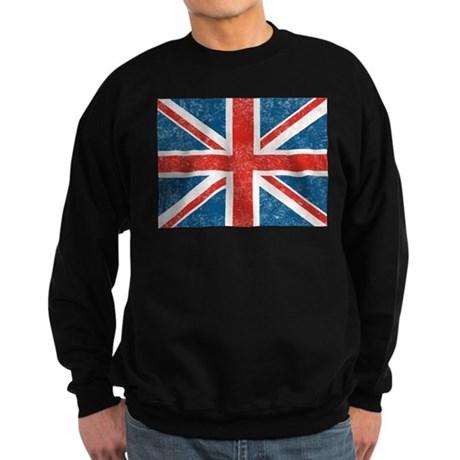 Vintage Union Jack Flag Sweatshirt (dark)