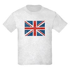Vintage Union Jack Flag Kids Light T-Shirt