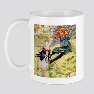 A RABBIT RUNS BY ALICE Mug