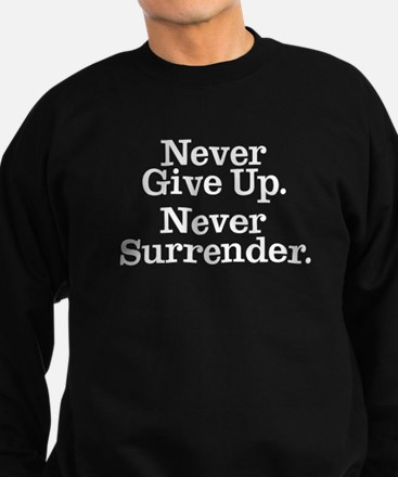 Never Give Up Sweatshirt (dark)