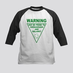 Warning Shenanigans and Malar Kids Baseball Jersey