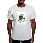 Kiss Me Irish Hat  Ash Grey T-Shirt