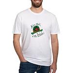 Kiss Me Irish Hat  Fitted T-Shirt