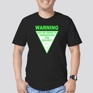 Warning Shenanigans and Malar Men's Fitted T-Shirt