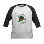 Kiss Me Irish Hat  Kids Baseball Jersey