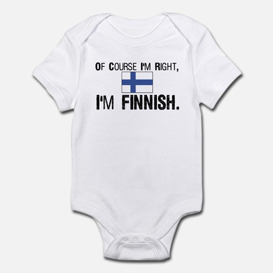 Of course I'm Right Finnish Infant Bodysuit