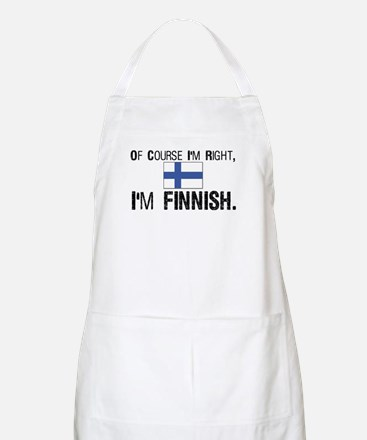 Of course I'm Right Finnish Apron