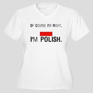 Of Course I'm Right I'm Polis Women's Plus Size V-