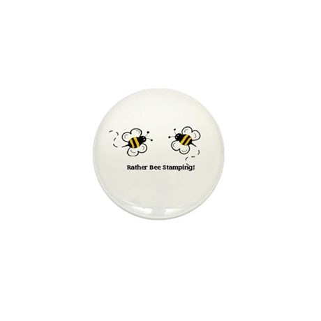 Rather Bee Stamping Mini Button