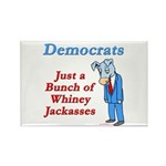 Democrats are Jackasses Rectangle Magnet (100 pack