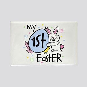 Bunny Chickie 1st Easter Rectangle Magnet