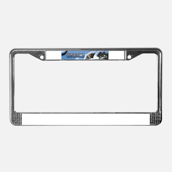 Theme park uk License Plate Frame