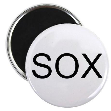 SOX - RED, WHITE, BLACK Magnet