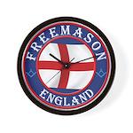 English Free Masons Wall Clock