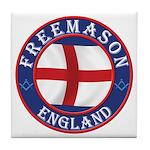 English Free Masons Tile Coaster
