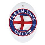 English Free Masons Ornament (Oval)