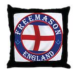 English Free Masons Throw Pillow