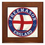 English Free Masons Framed Tile