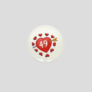 49th Valentine Mini Button