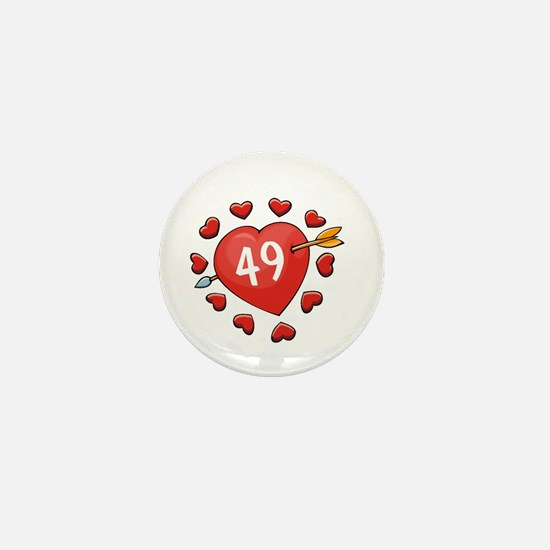 49th Valentine Mini Button