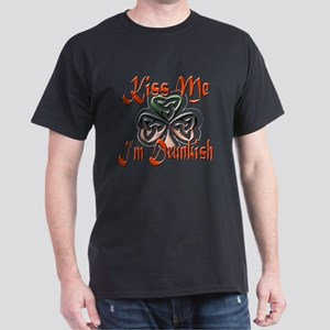 KISS ME, I'M DRUNKISH Dark T-Shirt