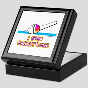 I Swim Backstroke Keepsake Box