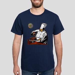 Dark T-Shirt Pastry Chef Art