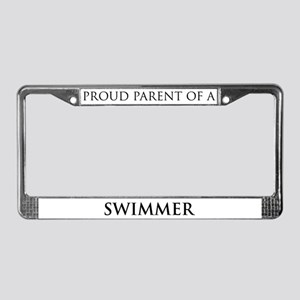 Proud Parent: Swimmer License Plate Frame