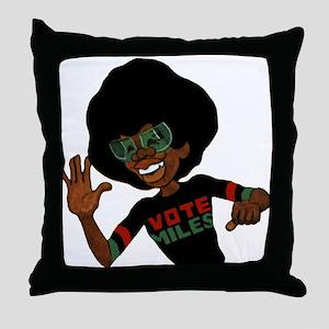 Vote Miles Throw Pillow