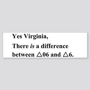Yes Virginia... Sticker (Bumper)