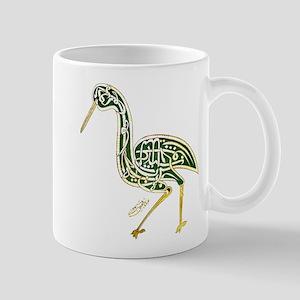 calligraphy bird 02 Mugs