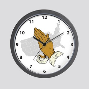 Pray For America Wall Clock