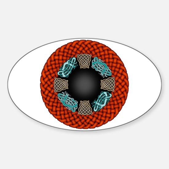 Basket Dragons Sticker (Oval)
