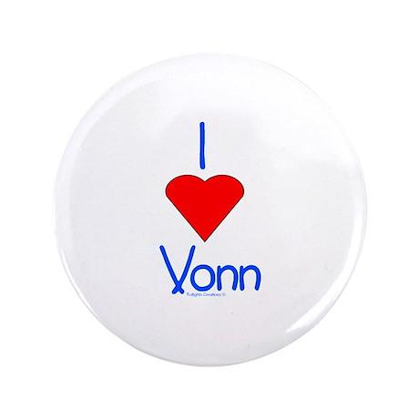 """Heart Vonn 3.5"""" Button"""